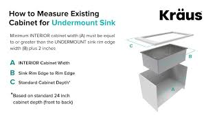 what size base unit for a sink how to measure kitchen cabinet for undermount sink installation