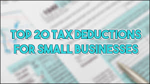 Business Expense Template For Taxes by Top 20 Tax Deductions For Small Business