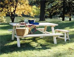 log cabin patio furniture rusticcedar log picnic table log cabin