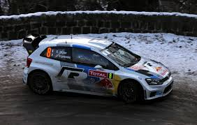 car volkswagen side view volkswagen polo wrc rally sports machine rally snow winter white