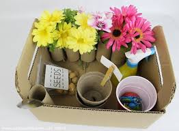 make a pretend kids garden kit