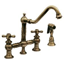 antique kitchen sink faucets whitehaus whkbtcr3 9201 vintage iii 9 inch bridge faucet w long