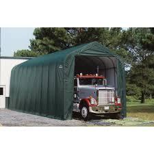 shelterlogic peak style garage storage shelter u2014 40ft l x 15ft w x