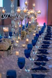 our royal blue wedding family styled seating reception table
