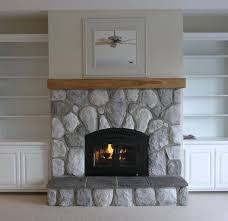 fireplace cool painted stone fireplace best home design