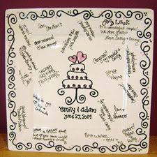 bridal shower autograph plate what i want to do as my guest book if write on it and you