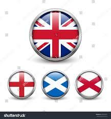 united kingdom flag england scotland ireland stock vector