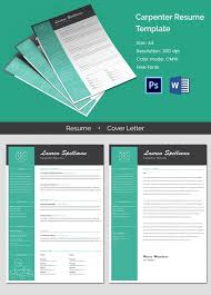 modern carpenter resume cover letter template free u0026 premium