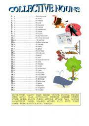 esl worksheets for adults collective nouns