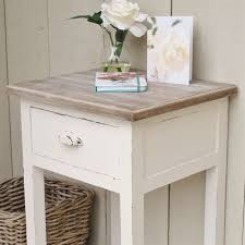 White Bedside Table White Bedside Side Table Bliss And Bloom Ltd