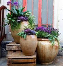 Potted Plants For Patio 35 Front Door Flower Pots For A Good First Impression