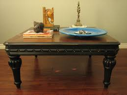 Rounded Edge Coffee Table - black coffee table