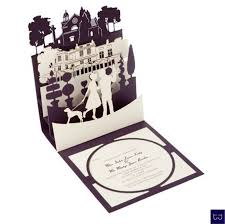 pop up wedding invitations pop up wedding invitations with