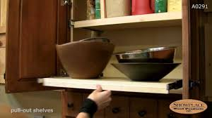 pull out shelves showplace kitchen convenience accessories youtube
