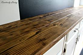 torched diy rustic wood counter top for under 50 by creatively living