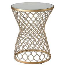 amazon com luxe gold moroccan side table home u0026 kitchen