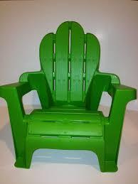 Adirondack Chairs Plastic Amazon Com Kid U0027s Plastic Adirondack Chair Green Scallop Top