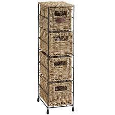 Bathroom Basket Storage Amazon Com Vonhaus 4 Tier Small Seagrass Basket Storage Tower