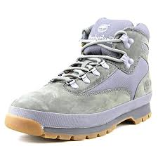 timberland mens euro hiker mid fabric and leather grey nubuck 8