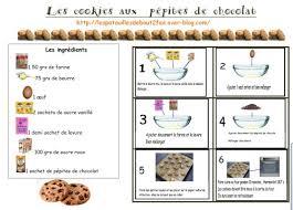 recette de cuisine cookies cookies au chocolat recette pour la classe petit