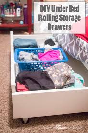 DIY Under Bed Rolling Storage Drawers Tutorial Storage Drawers - Under bunk bed storage drawers