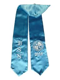 graduation stoles turquoise bsn graduation stole as low as 8 99
