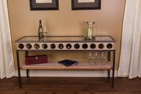 wine rack console table design modern table design