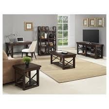 Bookcase Room Dividers by Wildwood Rustic Wood Veneer Bookcase Room Divider Altra Target