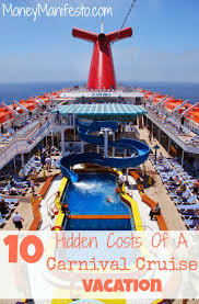 10 hidden costs on carnival cruises for new cruisers