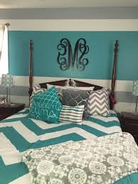 turquoise and yellow bedroom decor white wooden 3 front door