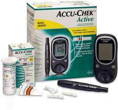 accu check active glucose monitor with 10 strips glucometer price