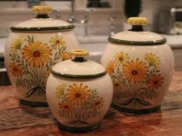 dlusso designs ceramic fruit 3 piece kitchen canister set and