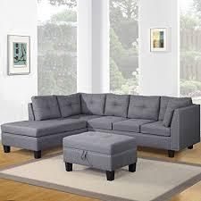 harper u0026 bright designs contemporary 3 piece sectional sofa set