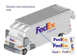 truck instructions fedex truck instructions and stickers home