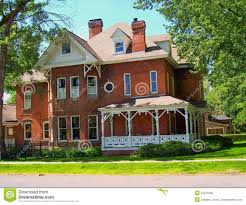 Brick Colonial House Colonial House Stock Photo Image 34075900