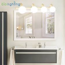 Mirror Bathroom Cabinet With Lights American Style White Led Cabinet Mirror Front Light Modern