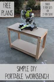 Simple Work Bench Easy Portable Workbench Plans Rogue Engineer