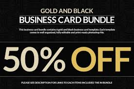6 gold and black business cards business card templates