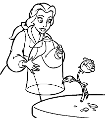 belle coloring pages free print coloringstar