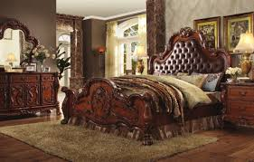 traditional bedroom sets and classic traditional bedroom furniture dresden 23140 bedroom in cherry oak by acme w options