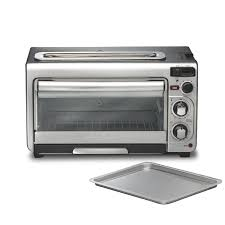 Toaster Oven With Auto Slide Out Rack Hamilton Beach 2 In 1 Oven And Toaster U0026 Reviews Wayfair