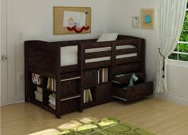 Solid Wood Bunk Beds With Storage Low Loft Bunk With Storage Unit For Toddler White Beds Bedroom