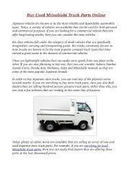 used mitsubishi truck used pickup truck parts u2013 atamu