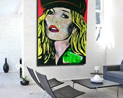 pop art painting etsy
