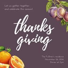 Thanksgiving Invitations Templates Free Thanksgiving Invitation Templates Canva