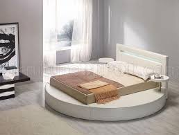 round leatherette platform bed palazzo white