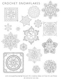 printable snowflake patterns patterns kid