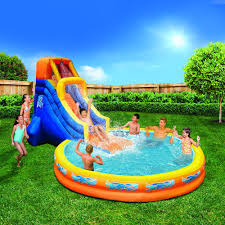 amazon com banzai the plunge water slide water toy with