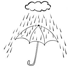 Cloudy And Rainy Coloring Pages Rainy Day Coloring Pages