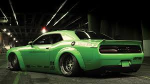 Dodge Challenger Custom - dub magazine project hulk liberty walk challenger